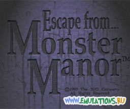 Заставка игры ESCAPE FROM MONSTER MANOR