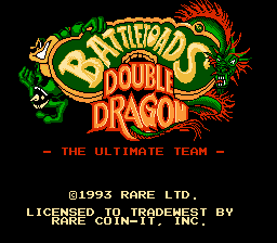 Заставка игры BATTLETOADS AND DOUBLE DRAGON: THE ULTIMATE TEAM
