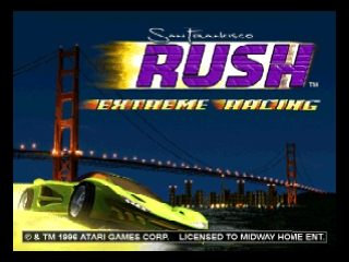 Заставка игры SAN FRANCISCO RUSH - EXTREME RACING