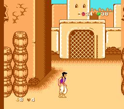 Первый уровень игры Aladdin 4